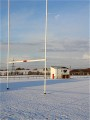 Snowy pitches at Stanley Rangers