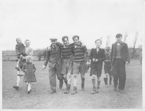 Team players including Norman Tennant