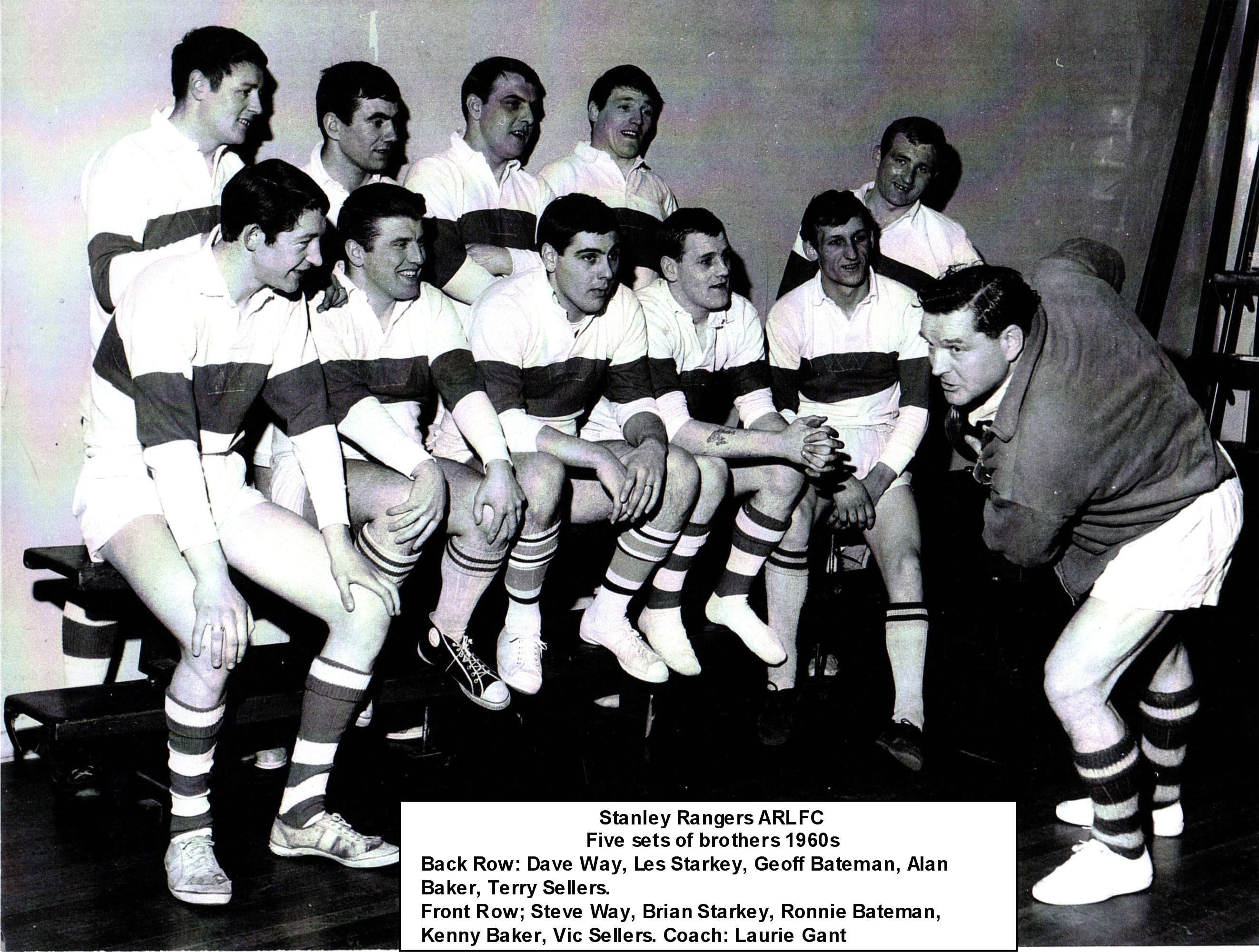 Brothers playing for Stanley Rangers 1960s